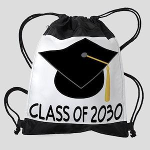 Class Of 2030 School Graduation Drawstring Bag