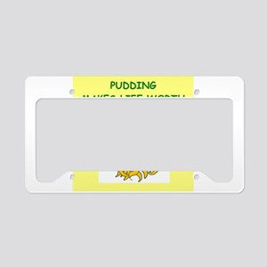 PUDDING License Plate Holder