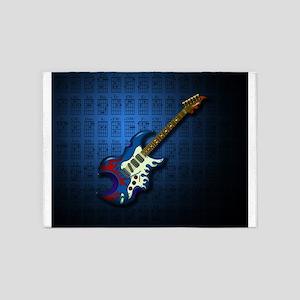 KuuMa Guitar 02 (B) 5'x7'Area Rug