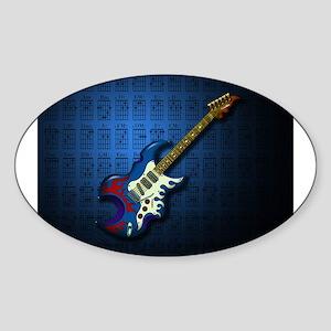 KuuMa Guitar 02 (B) Sticker (Oval)