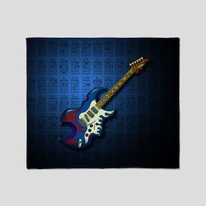 KuuMa Guitar 02 (B) Throw Blanket