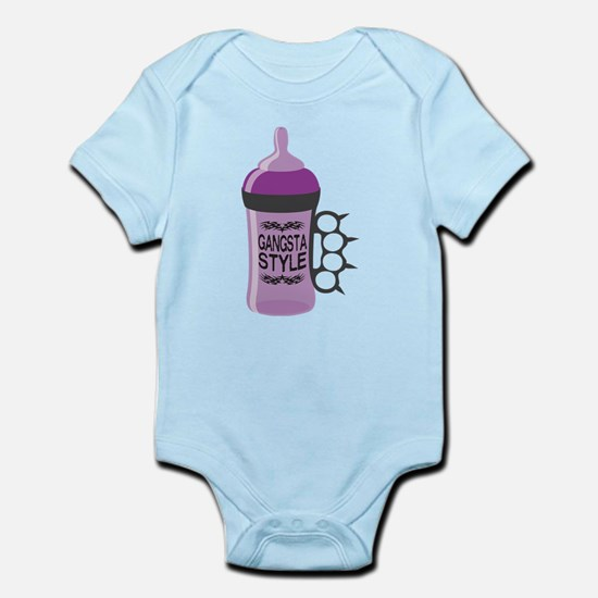 gangsta bottle purple Body Suit