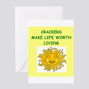 CRACKERS Greeting Card
