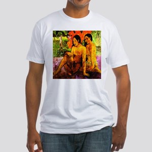 gold of their bodies Gauguin Fitted T-Shirt