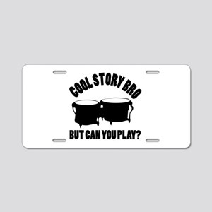 Bongo vector designs Aluminum License Plate