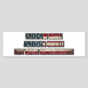 Freedom Not Government WFS Bumper Sticker