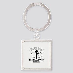 Muay Thai the real sweet science Square Keychain