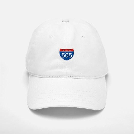 Interstate 505 - CA Baseball Baseball Cap