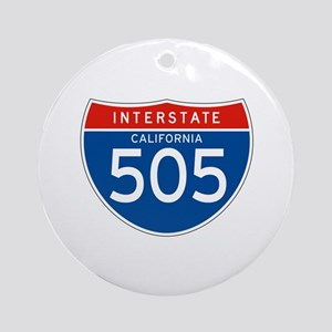 Interstate 505 - CA Ornament (Round)