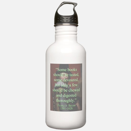 Some Books Should Be Tasted - Bacon Water Bottle