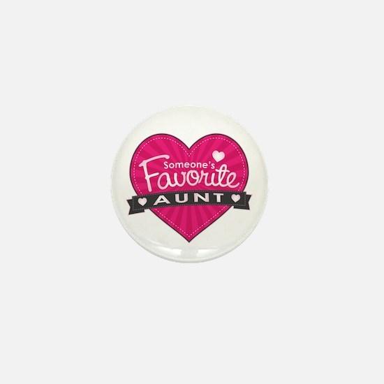 Favorite Aunt Pink Mini Button