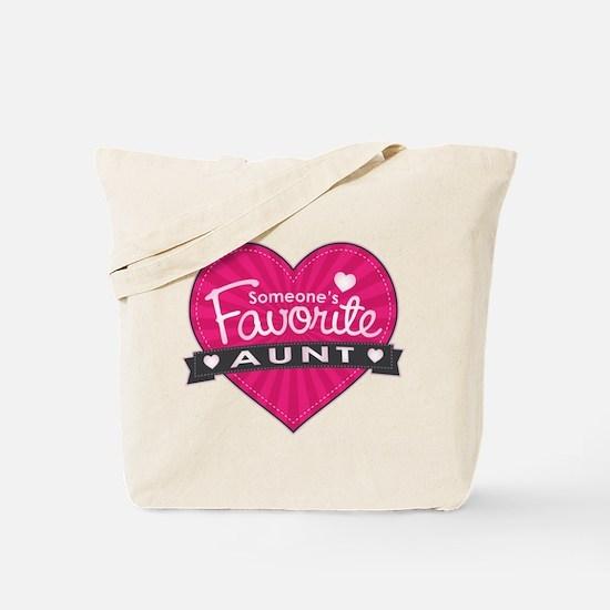Favorite Aunt Pink Tote Bag
