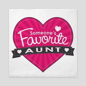 Favorite Aunt Pink Queen Duvet