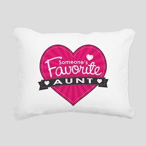 Favorite Aunt Pink Rectangular Canvas Pillow