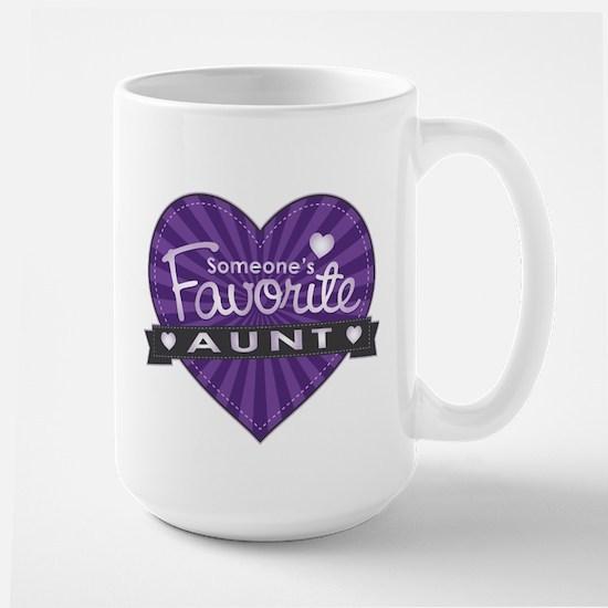 Favorite Aunt Purple Large Mug