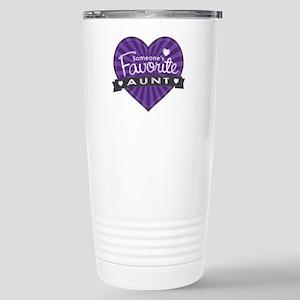 Favorite Aunt Purple Stainless Steel Travel Mug