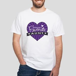 Favorite Aunt Purple White T-Shirt
