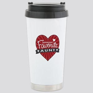 Favorite Aunt Red Stainless Steel Travel Mug