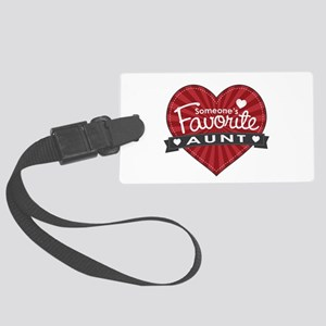 Favorite Aunt Red Large Luggage Tag