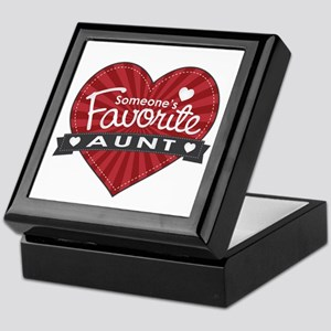 Favorite Aunt Red Keepsake Box