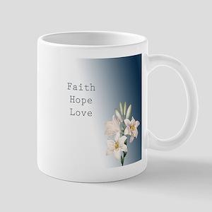 Lilies Faith, Hope, Love Mug