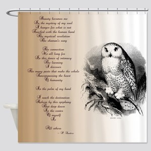 Owl with poem Shower Curtain