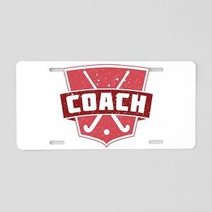 Field Hockey Coach (red) Aluminum License Plate