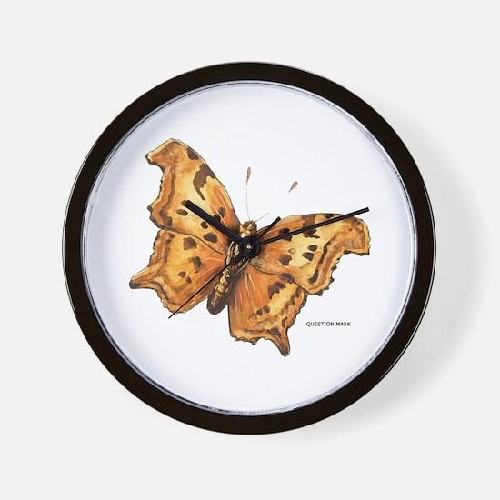 Question Mark Butterfly Wall Clock