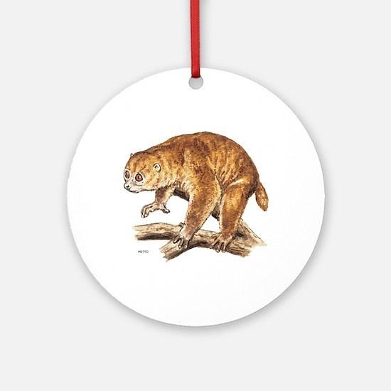 Potto Primate Ornament (Round)