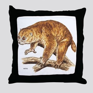 Potto Primate Throw Pillow