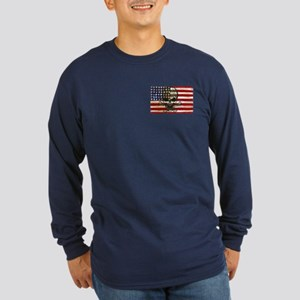 Flag-painted-American Pirate-2 Long Sleeve T-Shirt