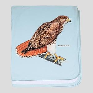 Red-Tailed Hawk Bird baby blanket