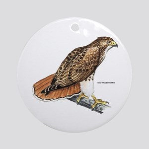 Red-Tailed Hawk Bird Ornament (Round)