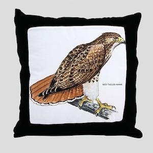 Red-Tailed Hawk Bird Throw Pillow