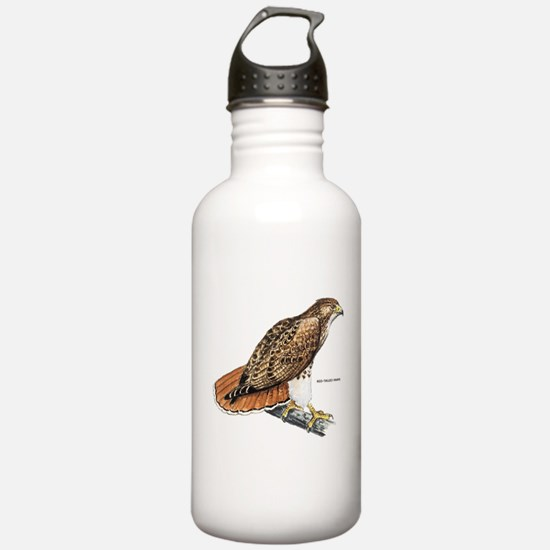 Red-Tailed Hawk Bird Water Bottle