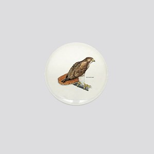 Red-Tailed Hawk Bird Mini Button