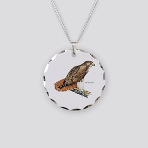 Red-Tailed Hawk Bird Necklace Circle Charm