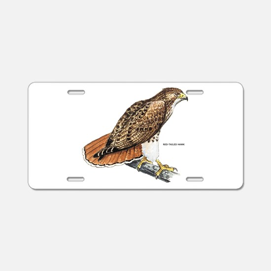 Red-Tailed Hawk Bird Aluminum License Plate