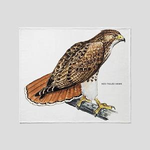 Red-Tailed Hawk Bird Throw Blanket
