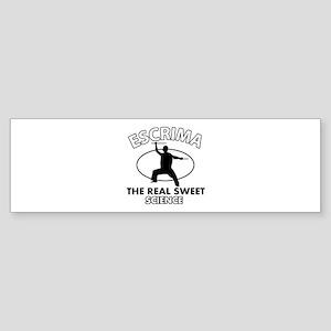 Escrima the real sweet science Sticker (Bumper)