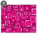 Retro Pink Square Pattern Puzzle