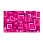 Retro Pink Square Pattern Wall Decal