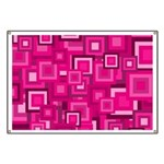 Retro Pink Square Pattern Banner