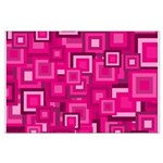 Retro Pink Square Pattern Posters