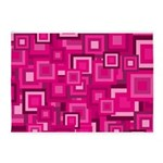 Retro Pink Square Pattern 5'x7'Area Rug