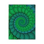 Blue and Green Fractal Art Twin Duvet
