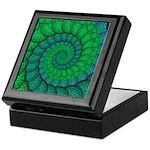 Blue and Green Fractal Art Keepsake Box