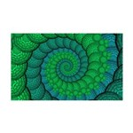Blue and Green Fractal Art Wall Decal