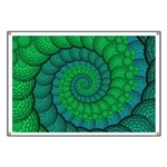 Blue and Green Fractal Art Banner
