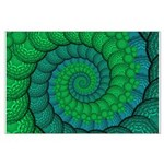 Blue and Green Fractal Art Posters